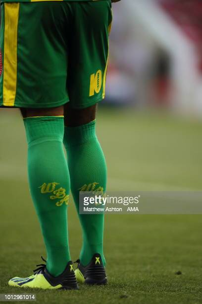 WBA socks during the Sky Bet Championship match between Nottingham Forest v West Bromwich Albion at City Ground on August 7 2018 in Nottingham England
