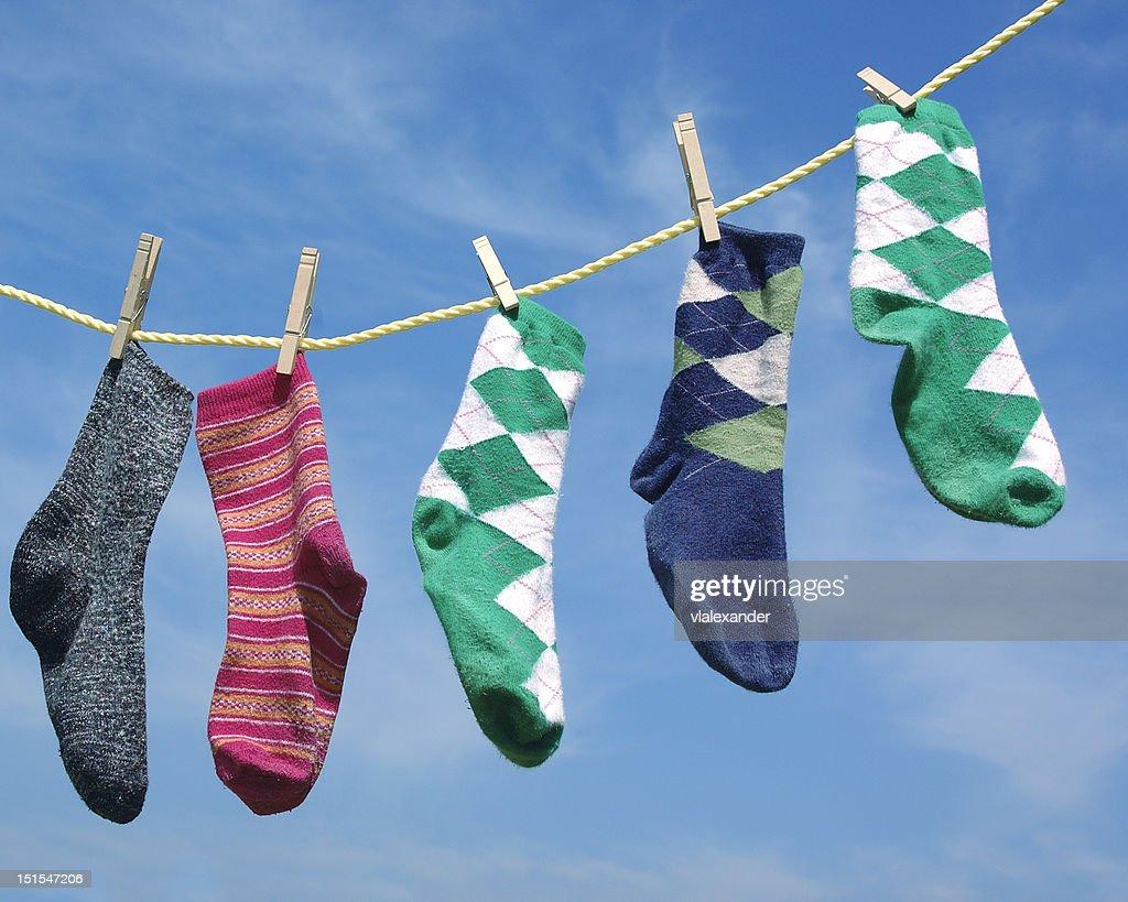 靴下、洋服ライン : ストックフォト