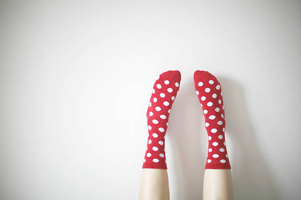 socks with polka dots