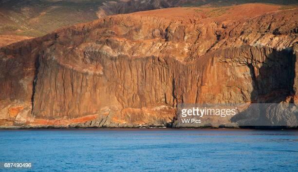 Socorro island sea cliff volcanic island part of the Revillagigedo archipelago on the Pasific ocean Mexico