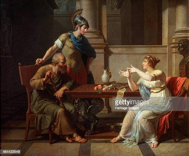 'Socrates and Alcibiades at Aspasia' 1801 Monsiaux Nicolas André Found in the collection of the State A Pushkin Museum of Fine Arts Moscow