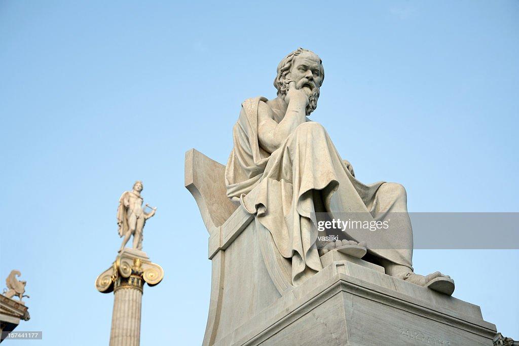 Socrates, Apollo and a sphinx : Stock Photo