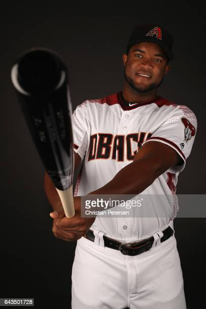 Socrates Brito of the Arizona Diamondbacks poses for a portrait during photo day at Salt River Fields at Talking Stick on February 21 2017 in...