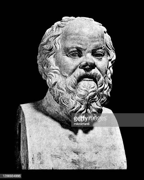 socrates bust statue - greece stock pictures, royalty-free photos & images