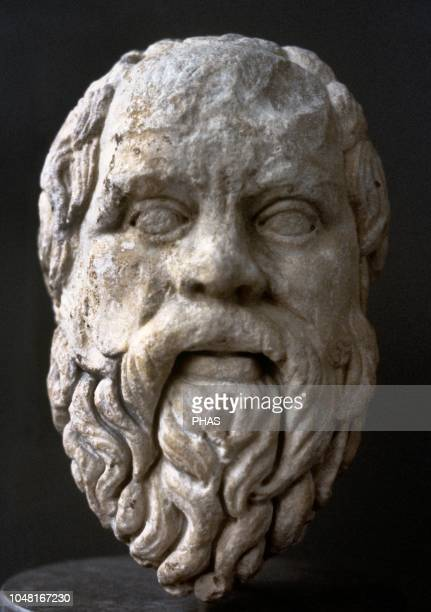 Socrates Classical Greek philosopher Roman copy from a Greek original bust 380360 BC British Museum London England