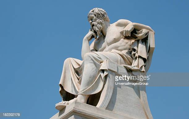 Socrates Classical Greek Philosopher Statue of Socrates at the Athens Academy Athens Central Greece Attica Europe