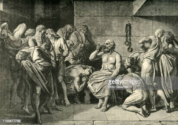 Socrates Drinking the Hemlock' 1890 Socrates the first moral philosopher sentenced to death by drinking a cup of poison hemlock at his own hand From...