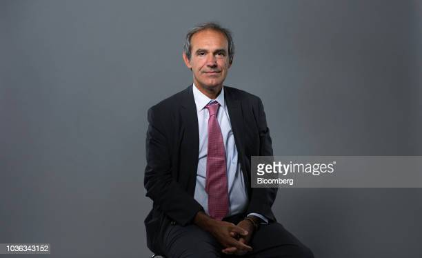 Socrates Lazaridis chief executive officer of Hellenic Exchanges SA speaks during a Bloomberg Television interview in London UK on Thursday Sept 20...