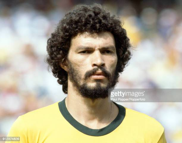 Socrates of Brazil prior to the FIFA World Cup match between Argentina and Brazil at the Estadio Sarria in Barcelona 2nd July 1982 Brazil won 31