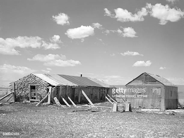 Sod House on Sub-Marginal Land, Pennington County, South Dakota, USA, Arthur Rothstein for Farm Security Administration, May 1936.