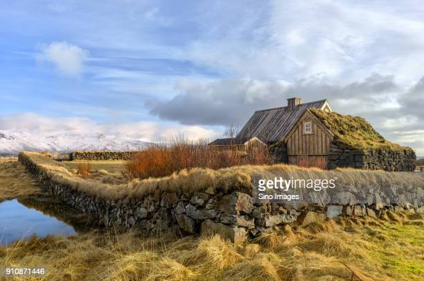 Sod roof cottage, Iceland