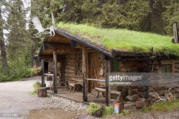 Sod Roof Log Cabin