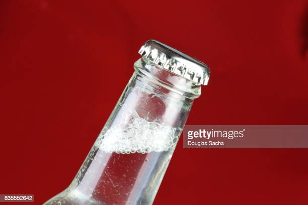 Soda bottle on a red background