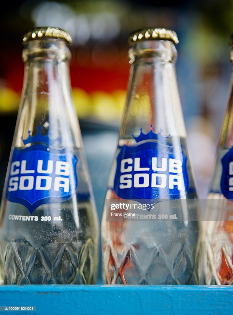 Soda bottles, close-up : Stockfoto