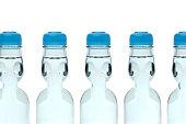 row soda drink ramune bottle white