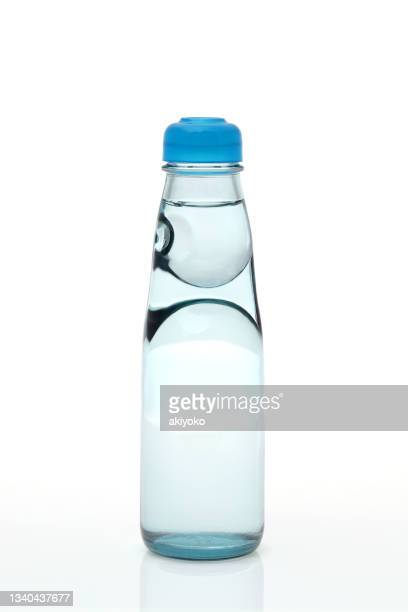 soda drink ramune bottle white background