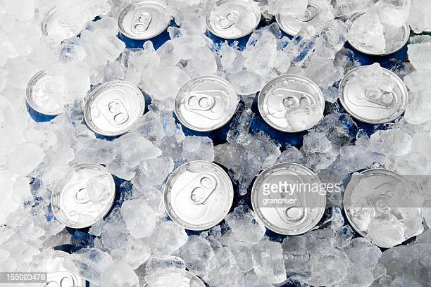 Soda or Beer Cans on Ice