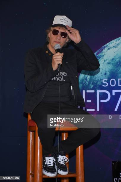Soda Stereo's singer Charly Alberti attends a press conference to promote the latest album 'Septimo Dia' at Camino Real Hotel on November 27 2017 in...