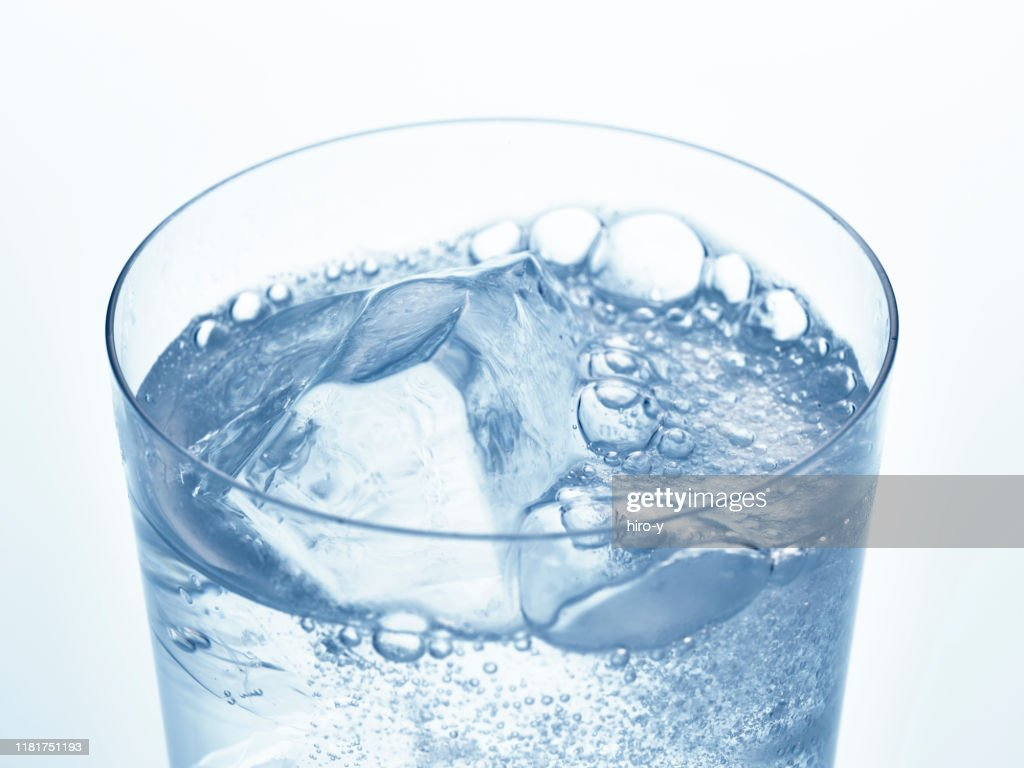 Soda water with ice : Stock Photo