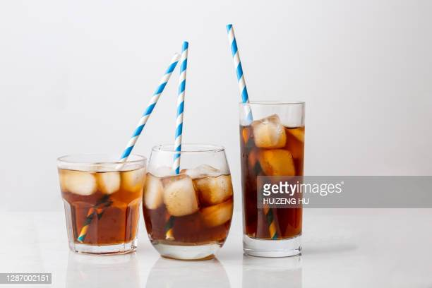 soda with straw - bottle stock pictures, royalty-free photos & images