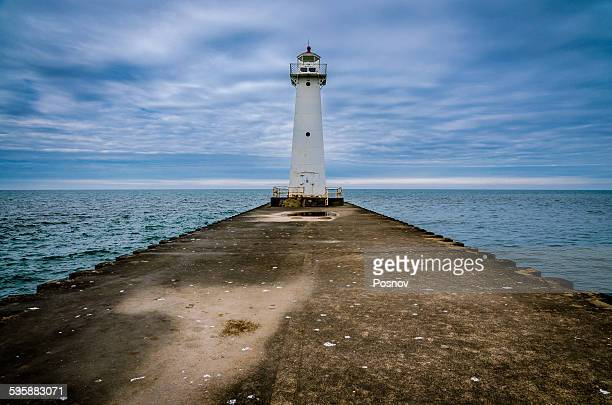 sodus point lighthouse - lake ontario stock pictures, royalty-free photos & images