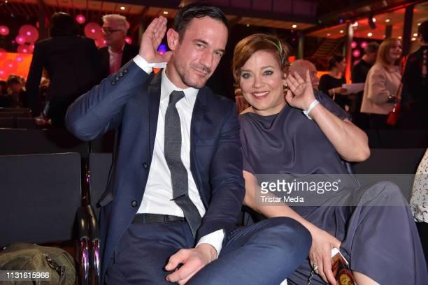 Soenke Moehring and Muriel Baumeister attend the Deutscher Hoerfilmpreis on March 19, 2019 in Berlin, Germany.