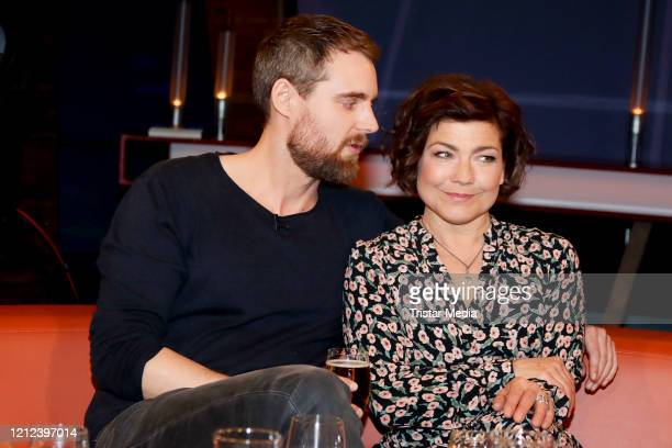 Soenke Schnitzer and Claudia Schmutzler during the NDR talk show on March 13 2020 in Hamburg Germany