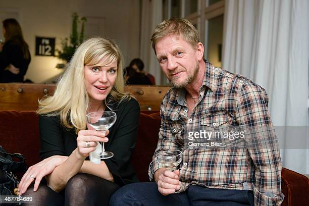 Soenke Wortmann and Cecilia Kunz attend the Diesel Constantin Film cocktail reception during 64th Berlinale International Film Festival at Soho House...