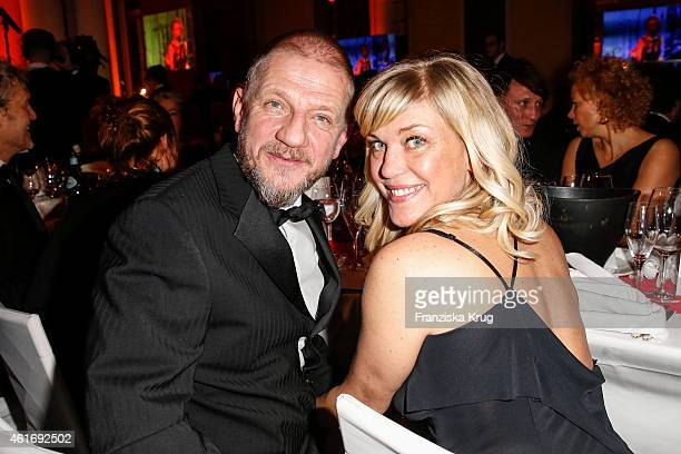 Soenke Wortmann and his wife Cecilia Kunz attend the German Film Ball 2015 on January 17 2015 in Munich Germany