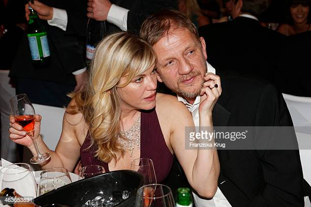 Soenke Wortmann and his wife Cecilia Kunz attend the German Film Ball 2014 on January 18 2014 in Munich Germany