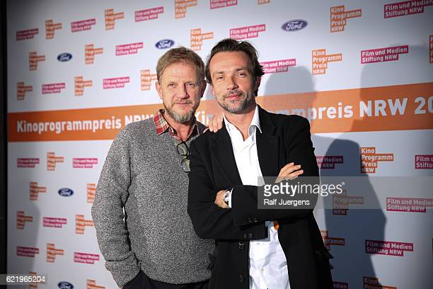 Soenke Wortmann and Lucas Gregorowicz attend the 26th Kinoprogrammpreis NRW at Gloria Theatre on November 09 2016 in Cologne Germany