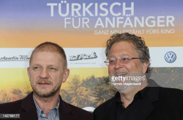 Soenke Wortmann and Martin Moszkowicz attend the Premiere Tuerkisch fuer Anfaenger at the CinemaxX on March 6 2012 in Munich Germany
