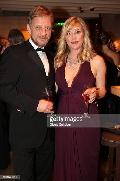 Soenke Wortmann and wife Cecilia attend the German Film Ball 2014 at Hotel Bayerischer Hof on January 18 2014 in Munich Germany