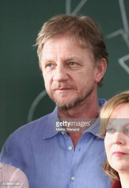 Soenke Wortmann attends the Photocall at the set of 'Frau Mueller muss weg' on March 14 2014 in Cologne Germany