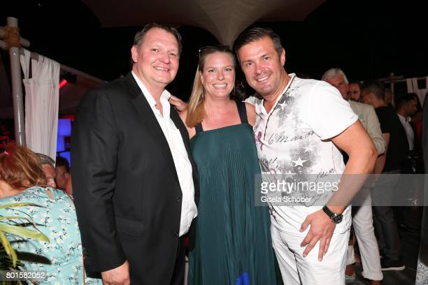 MUNICH GERMANY JUNE 26 Soeren Bauer Christian Schaeffer and his wife Sandra Schaeffer during the Movie meets Media Party during the Munich Film...