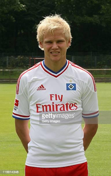 Soeren Bertram of the Hamburger SV poses during the Hamburger SV team presentation at Imtech Arena on July 26 2011 in Hamburg Germany