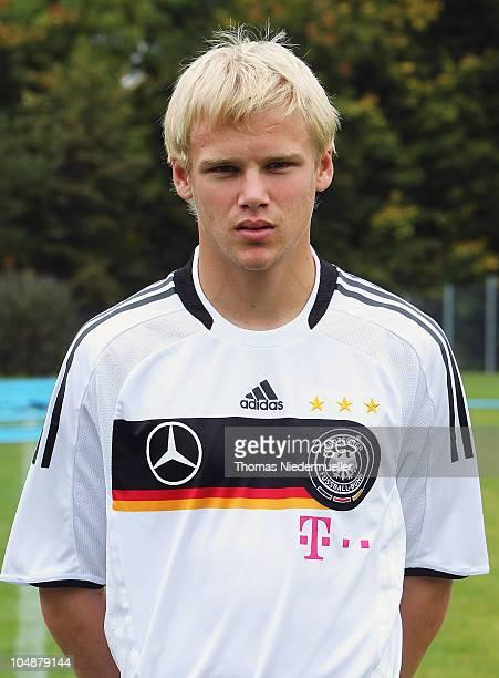 Soeren Bertram poses during the U20 team presentation on October 6 2010 in Heidenheim Germany