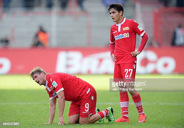 Soeren Brandy and Eroll Zejnullahu of 1 FC Union Berlin during the game between Union Berlin and SC Paderborn 07 on october 24 2015 in Berlin Germany