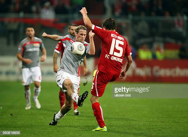 Soeren Sören Brandy Alexander Bittroff Zweikampf Aktion Spielszene FC Energie Cottbus FC Union Berlin zweite Bundesliga Sport Fußball Fussball...