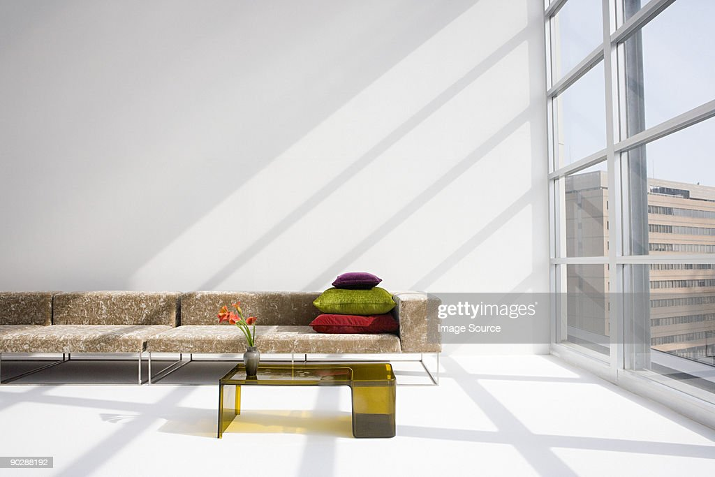 Sofa in a modern living room : Stock Photo