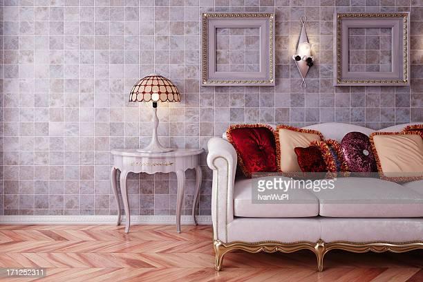 Sofa in luxury Interior