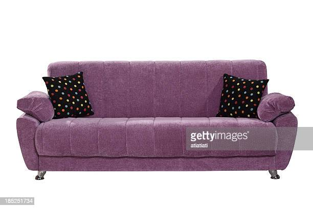 sofa isolated on white background with path