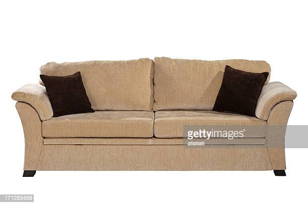 sofa isolated on white with path