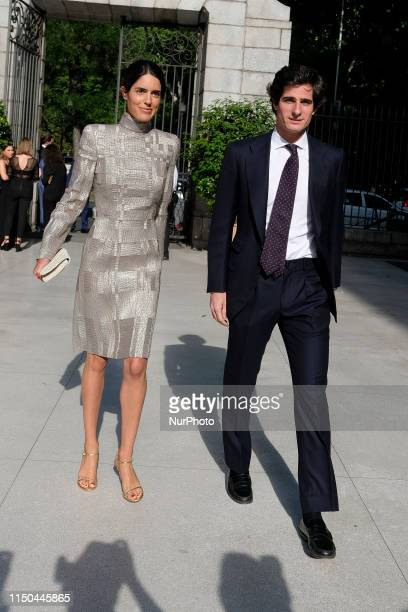 Sofía Palazuelo and Fernando FitzJames Stuart during inauguration Balenciaga and Spanish Painting exhibition in Madrid in ThyssenBornemisza National...