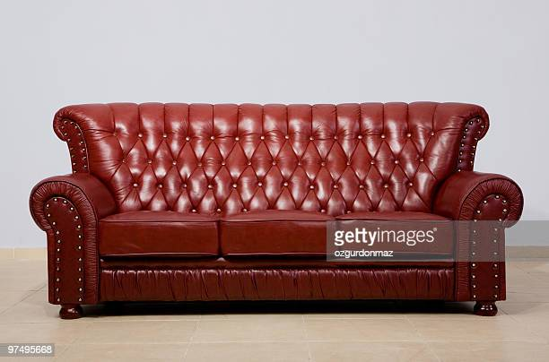 sofa - leather stock pictures, royalty-free photos & images