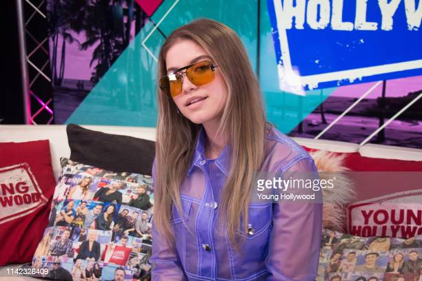 Sofía Reyes visits the Young Hollywood Studio on April 12 2019 in Los Angeles California