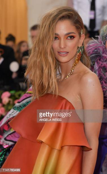 Sofía Sanchez Barrenechea arrives for the 2019 Met Gala at the Metropolitan Museum of Art on May 6 in New York. - The Gala raises money for the...