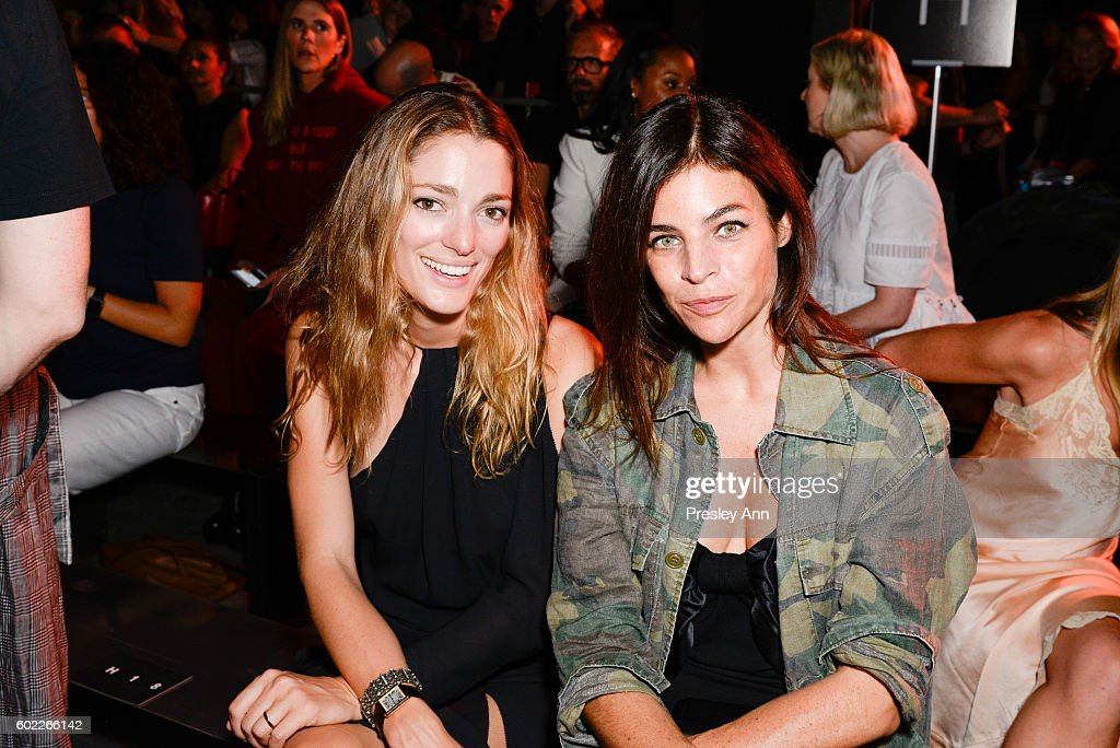 Sofía Sanchez de Betak and Julia Restoin Roitfeld Attend Alexander Wang Front Row during New York Fashion Week at Pier 94 on September 10, 2016 in New York City.