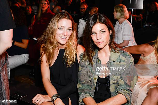 Sofía Sanchez de Betak and Julia Restoin Roitfeld Attend Alexander Wang Front Row during New York Fashion Week at Pier 94 on September 10 2016 in New...