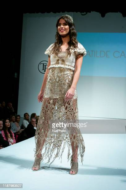 Sofía Suescun parades during the fashion show of Toni Fernandez in the Sala Joy Eslava in Madrid. Spain. December 10, 2019